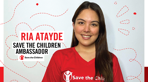 Ria Atayde joins Save the Children