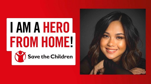 Lara Maigue signs up to be a #HeroFromHome