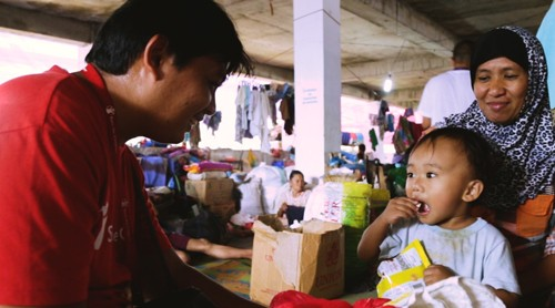 WATCH: Former evacuee, now a humanitarian